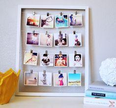 Pêle mêle photos à faire soi-même – un cadeau personnalisé et touchant