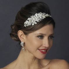 Stunning! Ivory Pearl and Crystal Side Accent Wedding Headband - Affordable Elegance Bridal -