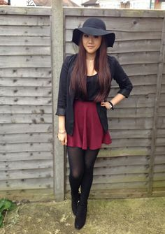 Burgundy Skirt, like the whole outfit