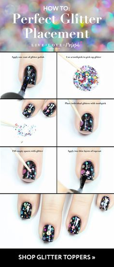 I knew there had to be a trick to getting the glitter polish just right! Thank you for sharing this wonderful tip!