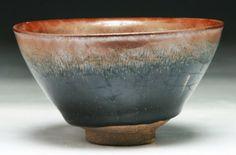 "A Chinese Antique Hare's Fur Glazed Porcelain Bowl Dimension: D: 4-3/4"""