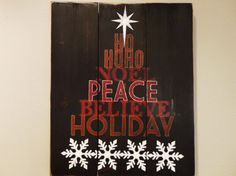Hand Painted Wood Christmas Sign by KLKDesignsLLC on Etsy, $45.00