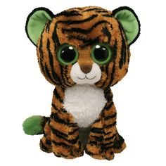 Ty Stripes the Tiger Big Cat Beanie Boos Stuffed Plush Toy Big Eyed Animals, Ty Animals, Ty Beanie Boos, Beanie Babies, Ty Babies, Cute Eyes, Big Eyes, Ty Peluche, Boo And Buddy