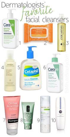 Dermatologist's Favorite Facial Cleansers via @15 Minute Beauty