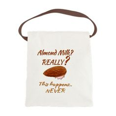 Funny Health Food Almond Milk Canvas Lunch Bag