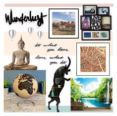 """""""wanderlust."""" by redcandyuk ❤ liked on Polyvore featuring interior, interiors, interior design, home, home decor, interior decorating, WALL and Umbra"""