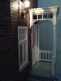 side entrance of  Miniature House. That would be super cute in a playroom!