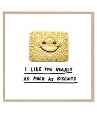 I like you nearly as much as biscuits