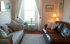 Boutique Living Room with Sea Views at Annie's by the Sea, St Ives, Cornwall - Sleeps 5. http://www.millyandmartha.com/anniesbythesea