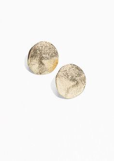 & Other Stories Textured Brass Earrings in Gold