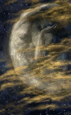 Weary Moon, Edward Robert Hughes (892×1440)