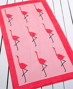 """""""Whim by Martha Stewart Collection Flamingo Beach Towel --- only $20 on sale!"""