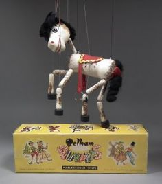 "A 1960s Pelham puppet - ""Horse"" (No. A2), with box for : Lot 250"