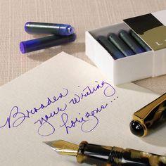 Cobalt Blue, Levenger Ink Cartridges, 16 Standard