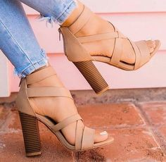 Our new Collection of women's High Heel sandals and shoes. We have of styles from wedge heel, stiletto heel, platform shoes, and more. Fancy Shoes, Pretty Shoes, Crazy Shoes, Me Too Shoes, Stilettos, High Heels, Tan Heels, Loafer Shoes, Women's Shoes