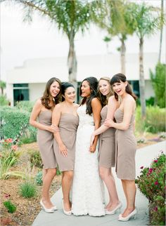 mocha bridesmaid dresses
