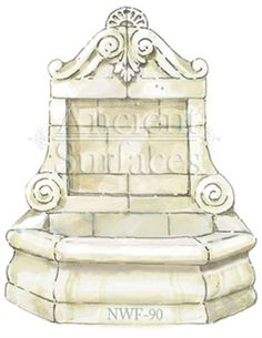 New Hand Carved Wall Fountains by Ancient Surfaces. Limestone Wall, Limestone Fireplace, Wall Fountains, Water Features, Hand Carved, Decorative Boxes, Carving, Garden Ideas, Yard
