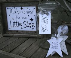 Twinkle Twinkle little star Baby Shower- Guest book alternative --Twinkle Twinkle- Tagbook, Wish Jar Tag and Sign- Silver and White by MerryMeDesign on Etsy https://www.etsy.com/listing/221761376/twinkle-twinkle-little-star-baby-shower