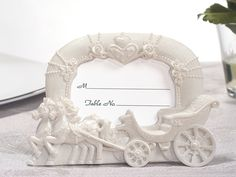 Enchanted Moments Wedding Cinderella Coach Place Card/Photo Frame