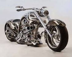Image result for extreme chrome on motor bikes
