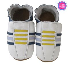 This simple yet fashionable shoe is Hand Made from 100% All Natural Leather. The inside of the leather is so soft and comfortable to babies' skin that will not irritate their delicate skin. Leather is naturally breathable for your babies extra comfort. Easy slip-on / off shoes that STAY ON. On the sole is Soft Suede that acts as a all natural anti-slip which is very durable and flexible.