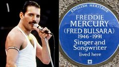 A Blue Plaque marking the first home Freddie Mercury lived in when he arrived in England is unveiled in west London.