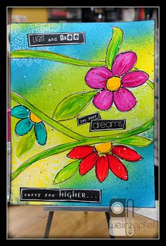 """Tracy Weinzapfel - Mixed Media Monday 9/22/14 – """"Light and Free"""""""