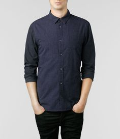 AllSaints Seminole Long Sleeve Shirt | Mens Shirts