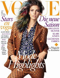 Kendra Spears Looks Psychedelic in Prada for Vogue Germanys July 2012 Cover