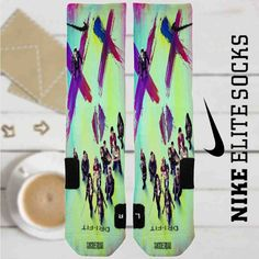 Suicide Squad Movie Custom Nike Elite Socks