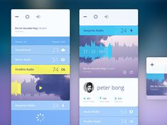 Radio Experiments - Mobile app interface UI UX