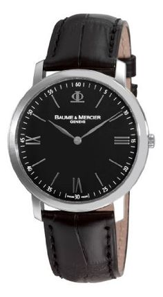 Baume Mercier Men's 8850 Classima Executives Ultra Thin Black Dial Watch Baume & Mercier. $1125.00. Thin. Pin buckle. Black dial. Water-resistant to 99 feet (30 M). Roman numerals; Steel hands. Save 30% Off!