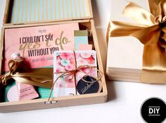 How to make your own 'Be My Bridesmaids' boxes. www.theweddingnotebook.com