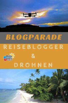 In kürzester Zeit ist das Thema Drohnen bei Reisebloggern sehr aktuell geworden. Kaum ein Reisebericht ohne diese speziellen Bilder aus der Luft. Oft auch Videos, die ganz neue Perspektiven bieten. Da wir selber eine Drohne für unseren Reiseblog einsetzen, interessiert es mich dann immer, wie das bei anderen Bloggern mit Drohnen so läuft. Daraus entstand die Idee dieser Blogparade. Her mit deinen Infos, mit welcher Drohne du unterwegs bist... Desktop Screenshot, Videos, Philippines, Travel Report, Viajes