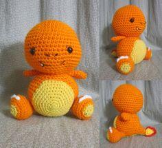 Amigurumi Crochet Charmander from pokemon
