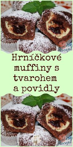 Hrníčkové muffiny s tvarohem a povidly Slovak Recipes, Czech Recipes, Cooking Tips, Cooking Recipes, Yummy Cookies, Desert Recipes, Sweet Recipes, Cupcake Cakes, French Toast