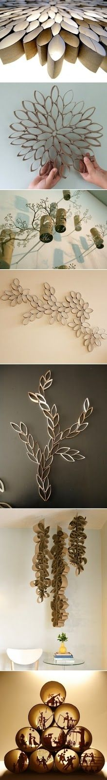 Toilet Paper Roll Art...my love affair with brown paper.