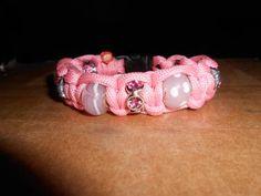 Pink Beaded Para-Cord Bracelet - Para-Cord This