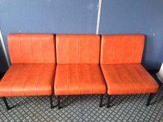 Classic Retro Chairs In Beautiful Orange | eBay