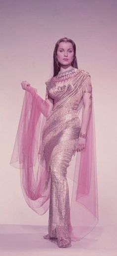 EDITH HEAD designed this costume for Debra Paget in THE TEN COMMANDMENTS.