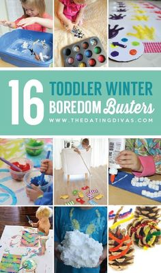 16 Toddler Winter Boredom Busters- Lots of ideas for things to do inside with kids on those snowy winter days!