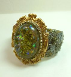 Resin Glitter Cuff Cold Enamels Handmade by bsueboutiquesjewelry, $35.00