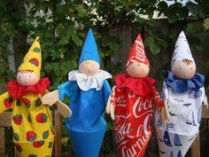 """Waldorf """"Peek-a-boo"""" dolls.. via Etsy."""