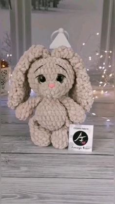 Bunny handmade stuffed plush toy is the best birthday gift, a gift for girls and boys. Crochet plush animals are perfect as baby toys and nursery decor