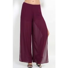 Sheer Side Split Trousers
