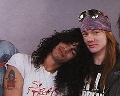 Slash with Axl - so cute!