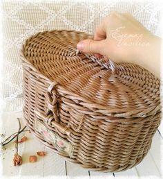 Сундучок-шкатулка. Плетение из бумаги.: