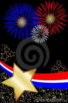 4th of july free poster | Red White and Blue Fireworks Celebrate USA New Years, independence day ...
