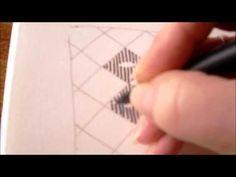 ▶ How to draw tanglepattern Yin Cut - YouTube