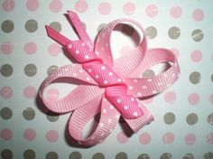 Pink Butterfly Bow Baby Bow Butterfly Hair by BowsForBellesShop, $3.00